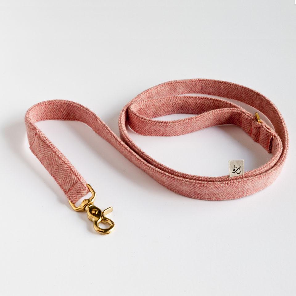 Dog Leashes. Berry Wool Leash