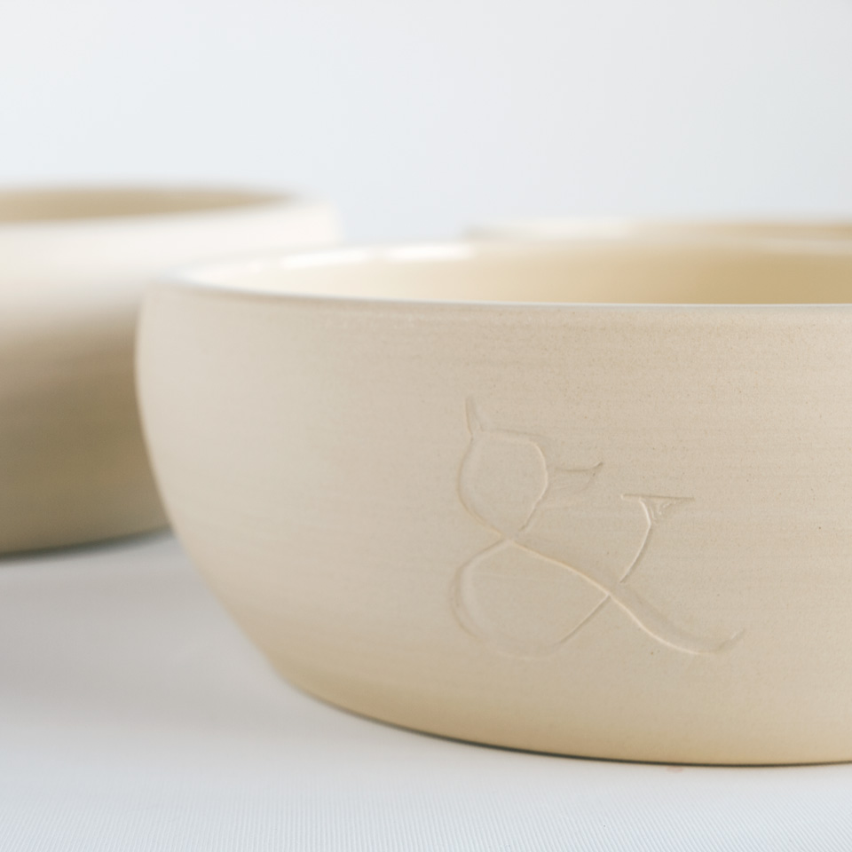 Dog Bowls. Ceramic Bowls. Natural Sandstone Bowl