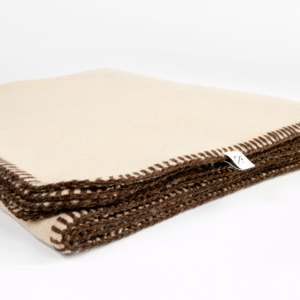 Blanket Beige Dog Wool
