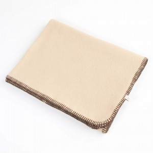 Blanket Beige Dog Wool