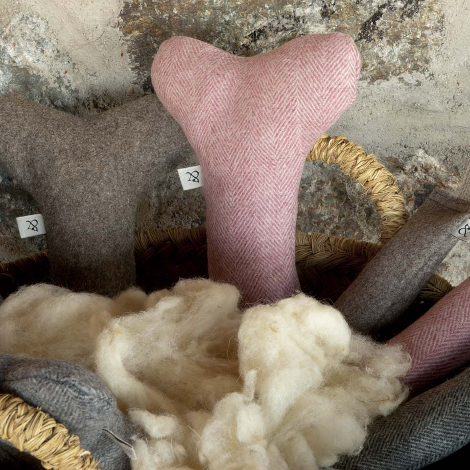 Wool dog bone. Dog Toy