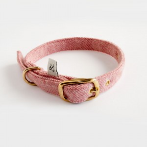 Dog Collar Berry Wool