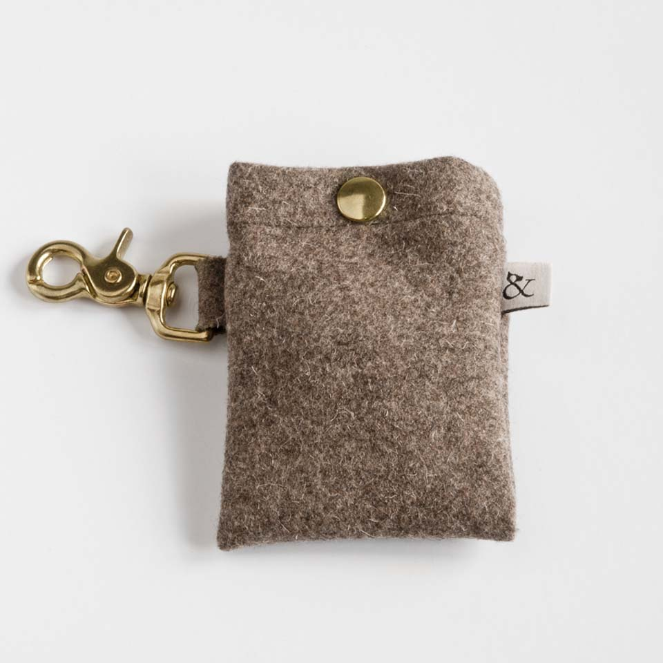 Dog Accessories. Dog Walk Bag- Country Wool