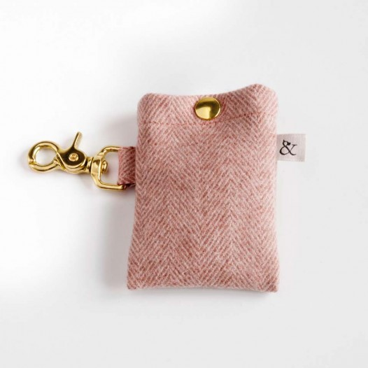 Dog Accessories. Dog Walk Bag- Berry Wool
